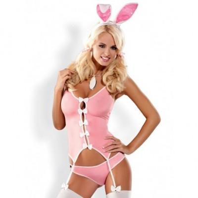 Bunny Suit Déguisement Rose De 4 Pièces