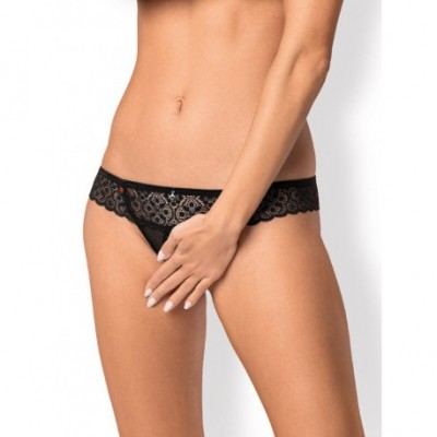 SHIBU CROTCHLESS THONG BLACK
