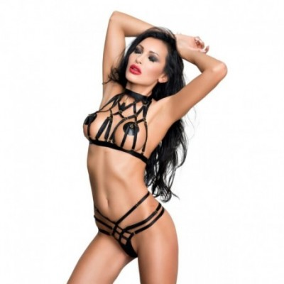Aisha Harness Set Black