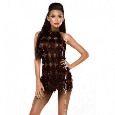 Gwen Vestido com Costas Abertas - Preto