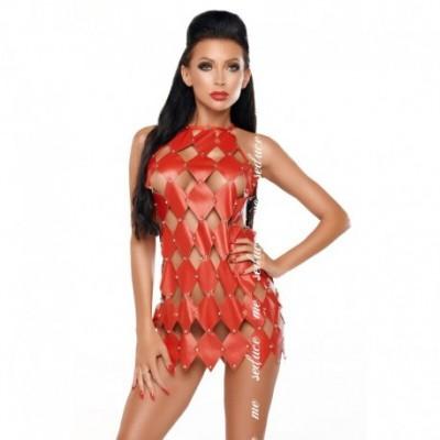 Gwen Open Back Dress Red