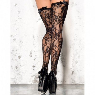 Lace Stockings ST 04 Black