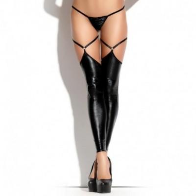 Footless Stockings ST 09 Black