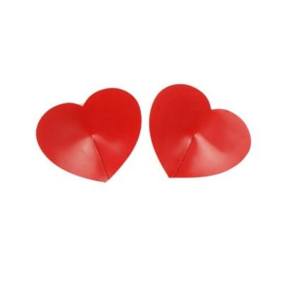 Cubre Pezones en Forma de Corazón Rojo
