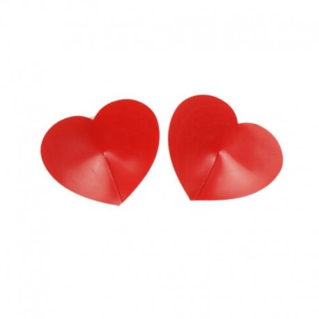 Heart Shaped Nipple Covers Red