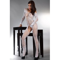 ABRA BODYSTOCKING – WHITE